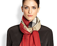 Scarves, shawls and wraps from select fashion houses