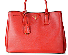 Luxurious designer leather tote bags from Prada