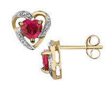 Beautiful ruby earrings to buy online