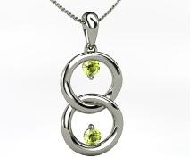 August gemstone jewelry, customized