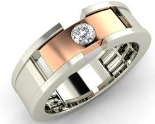 Customized stylish diamond jewelry for men
