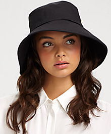 Black brimmed hat