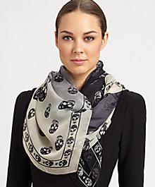 Skull scarf - Alexander McQueen