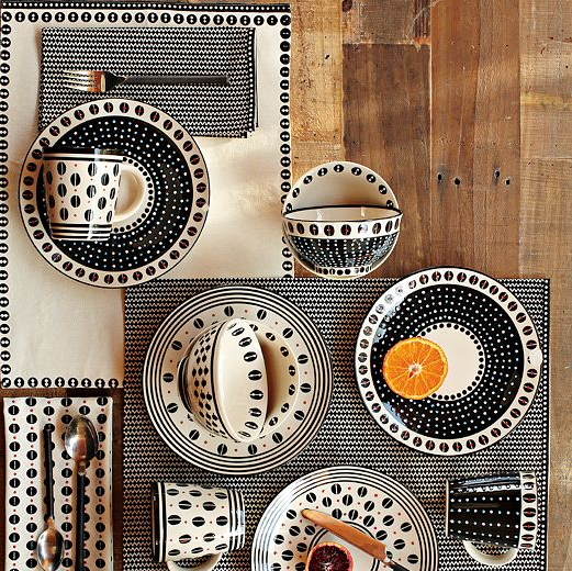 A stylish favorite in black white and a touch of red & Handcrafted tableware from South African artists | Tastes Magazine ...