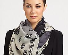 Skull scarves by Alexander McQueen