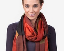 Stylish orange scarves