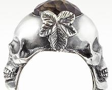 Designer skull jewelry from Italy