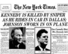 A piece of history. Kennedy killed by sniper 1963