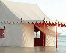 The stunning Altair luxury tent