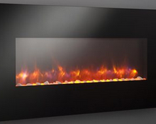 The luxury of an electric fireplace