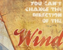 Vintage style motivational posters