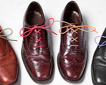 Buy and tie colored shoelaces